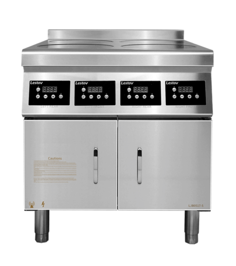 Commercial Induction Cooktop 4 Burners Boiling Top