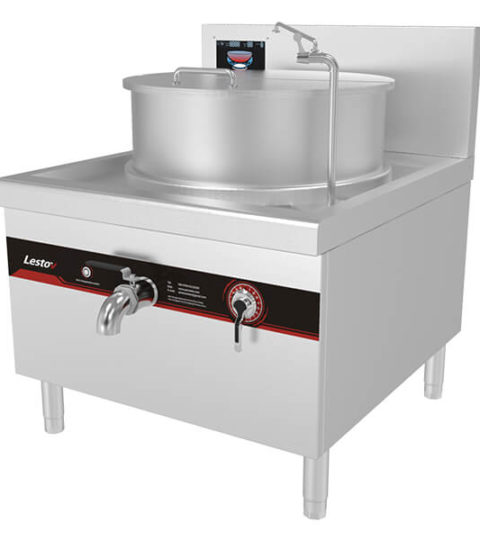 Big Soup Valve Induction Soup Cooker Commercial Use