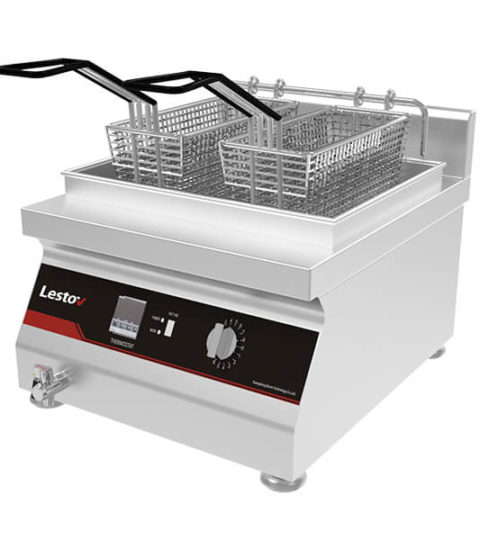 Single Tank Induction Commercial Deep Fryer 13.3 Litre