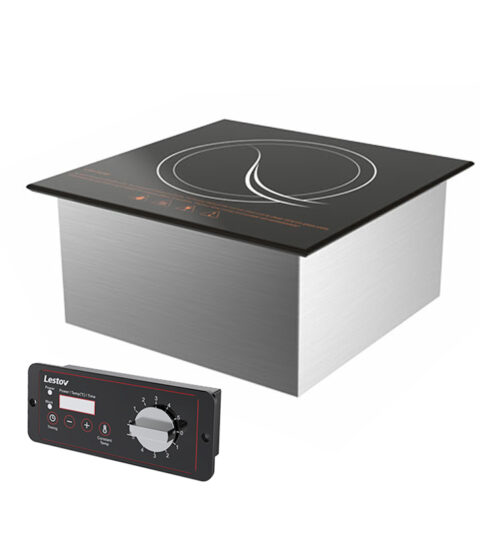 Full Glass Commercial Drop-in Induction Cooktop