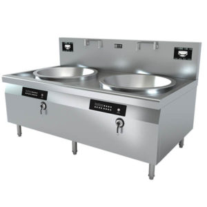 Chinese Double burner commercial induction wok