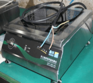 install and connect the induction cooker