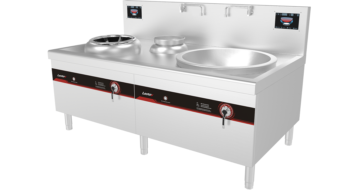 Commercial Induction Wok Cooker