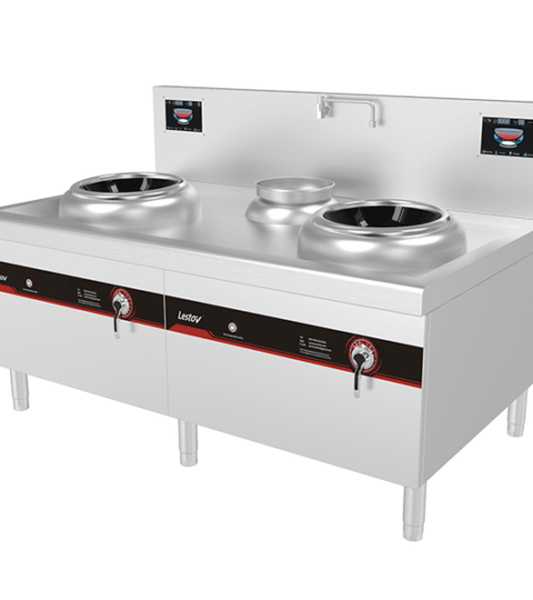 Double Wok Burners Commercial Induction Cooktops