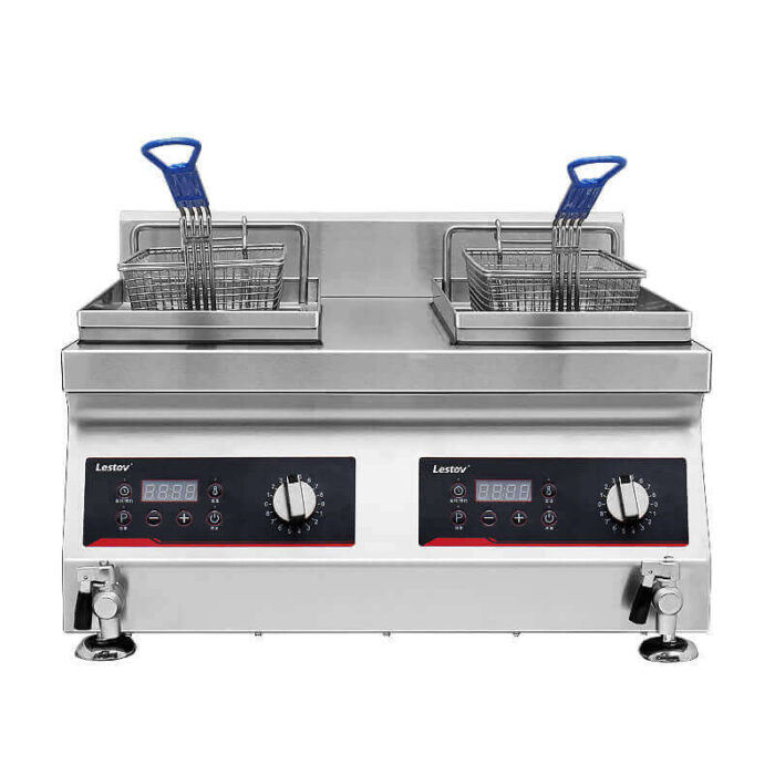 Double-cylinder Commercial Induction Fryer