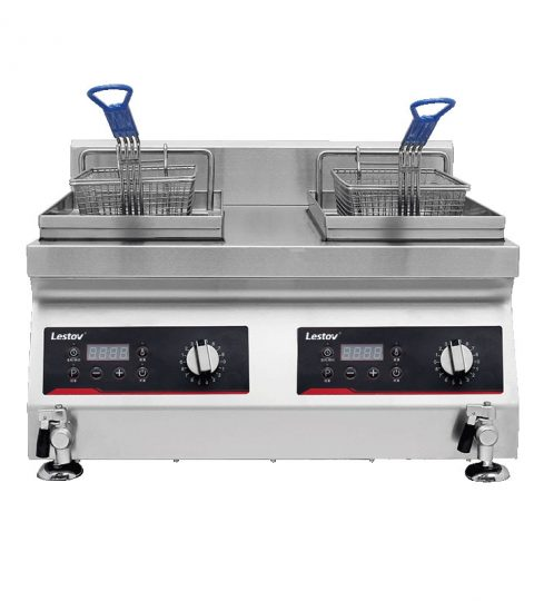 Double-cylinder Commercial Induction Deep Fat Fryer