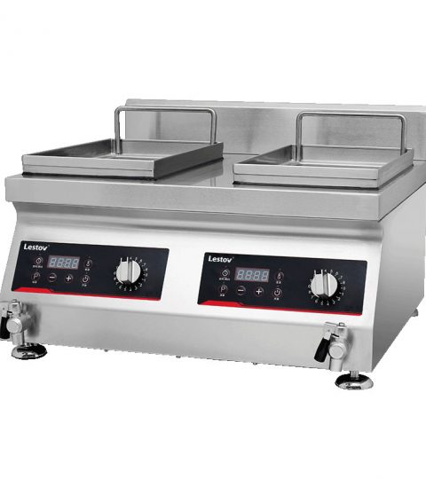 Double-cylinder Commercial Induction Fryer1