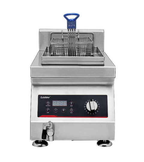 8 Litres Single Tank Commercial Induction Deep Fryer