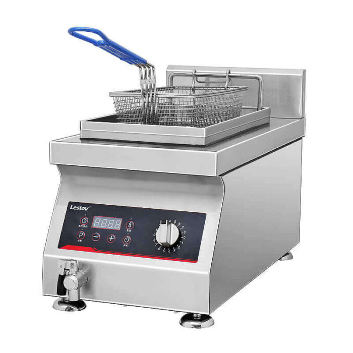 Single tank commercial induction fryer