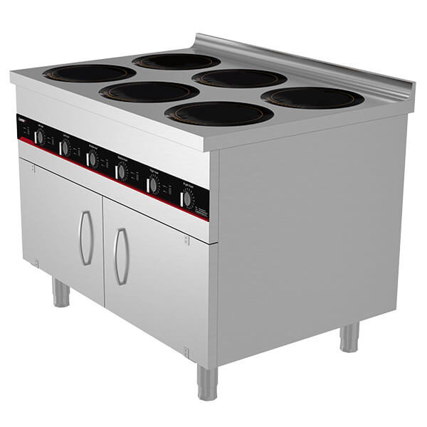 commercial 6 zone induction hob