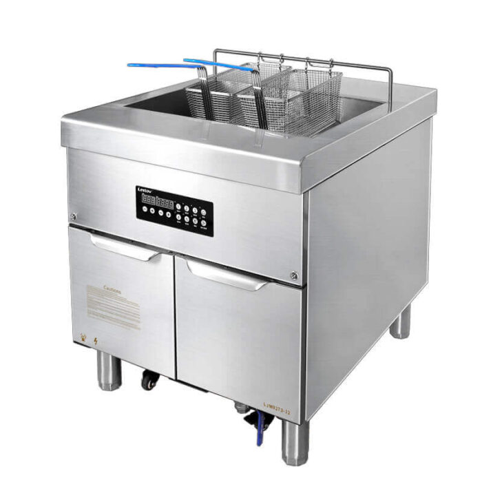 commercial fryer with filtration systems