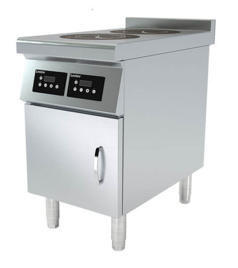 Commercial Induction Range 2 Burner Dual Cooking Zone