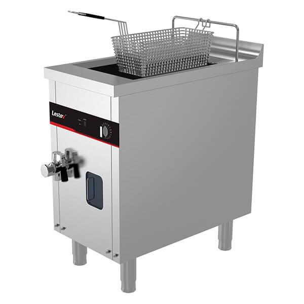 induction deep fryer single basket stainless steel 220v 5000w