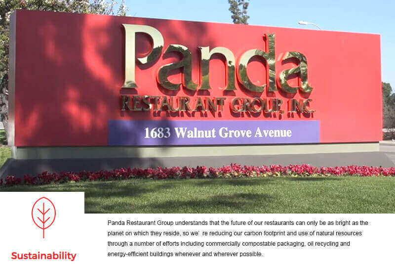 Panda Restaurant Group use induction cooking equipment: sustainability