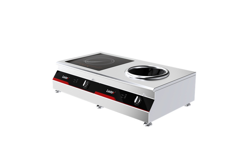One Flat One Concave Induction Cooker