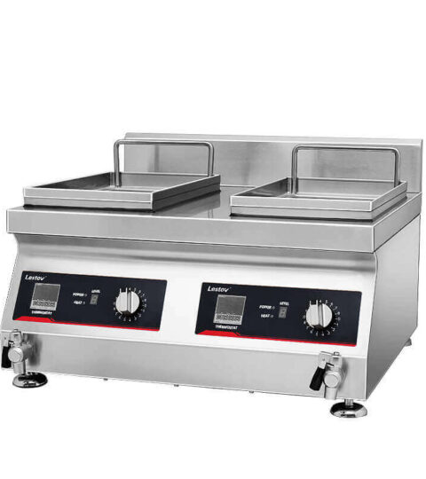 Double-cylinder-Commercial-Induction-Fryer