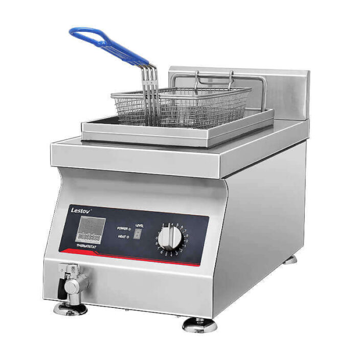 Single-tank-commercial-induction-fryer-